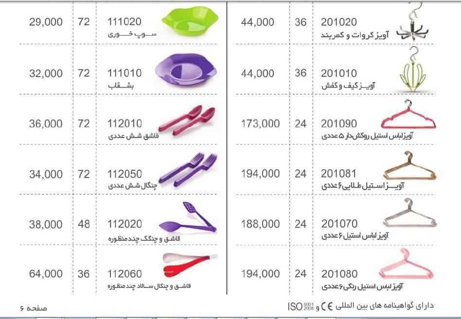 قیمت محصولات پلاستیکی مانیا