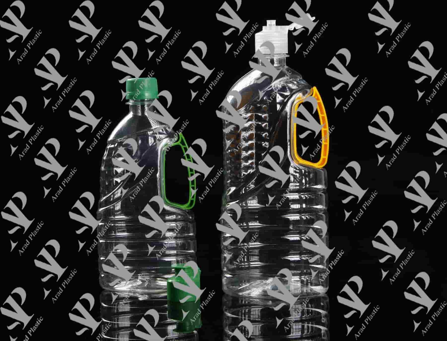 انواع بطری پلاستیکی نیم لیتری دسته دار